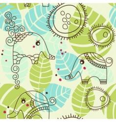cartoon elephants pattern vector image