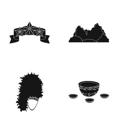 Learning travel and or web icon in black style vector