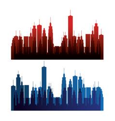 new york city scene vector image
