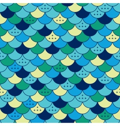 Semicircles seamless pattern Tile or fish scale vector image