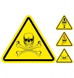 sign on danger vector image