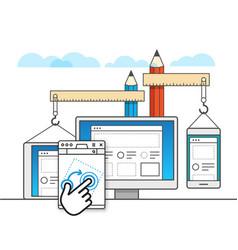 web site constructor web design concept vector image vector image