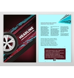 Grunge Tire A4 template 02 A vector image vector image