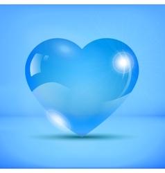 Liquid iced heart vector image