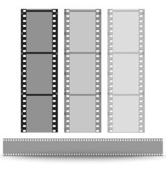 set of films pattern background vector image vector image