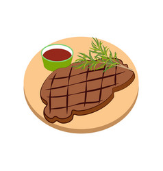 meat steak vector image vector image