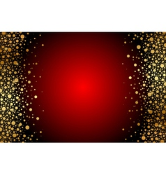 red and gold luxury frame vector image vector image