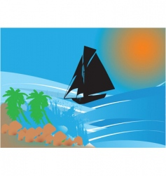 island ship vector image