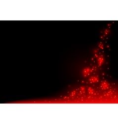 Red Glowing Sparklers vector image