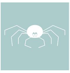 spider the white color icon vector image