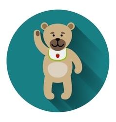 Teddy bear icon with shadow vector image