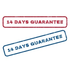 14 Days Guarantee Rubber Stamps vector image