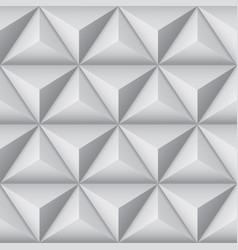 3d geometric pattern with pyramids abstract gray vector image