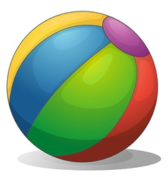 A colorful beach ball vector image