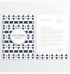 abstract aztec style letterhead template vector image