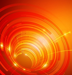 Abstract Circles Technology Orange Background vector image