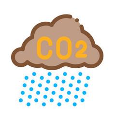 Acid rain icon outline vector