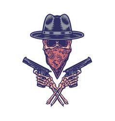 Bandit holding gun vector