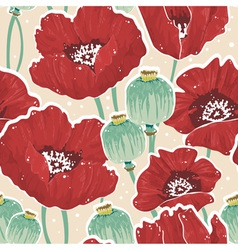 Beautiful painting spring floral seamless pattern vector image