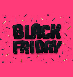 black friday big sale typography poster vector image