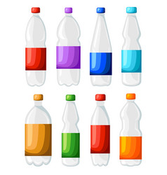 bottle and glass fresh sparkling water icon in vector image