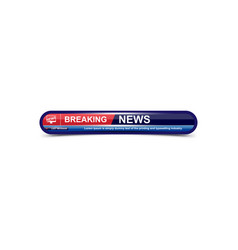 Breaking news template title with shadow on white vector