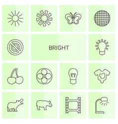 Bright icons vector