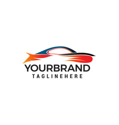 car logo design concept template vector image