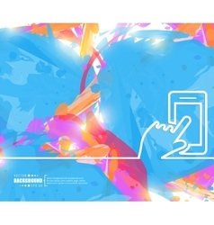 Creative hand with the phone Art vector image