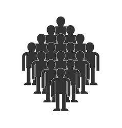 Crowd of people icon throng isolated society vector