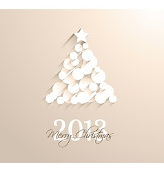 Delicate 2013 Christmas background vector image