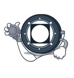 Doctor byteball bytes coin character cartoon vector