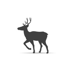 Emblem monochrome deer vector