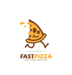 fast pizza logo vector image