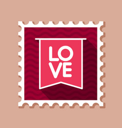 Flag with inscription love stamp vector