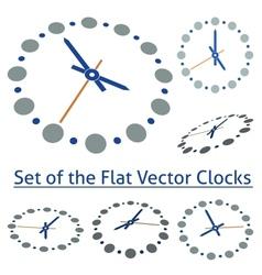 Flat Clocks vector image