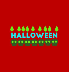 Flat icon on stylish background candle halloween vector