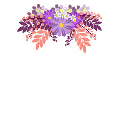 flower ornament in minimalist style flat vector image