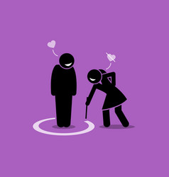Friend zone concept artwork depicts a man is vector
