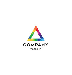 Geometry colorful logo template vector