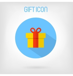 Gift flat styled icon vector