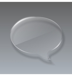 Glass bubble speech on gray background vector image