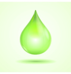 Green drop vector