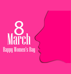 happy womens day greeting card 8 march vector image vector image