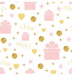 holiday background seamless birthday pattern with vector image