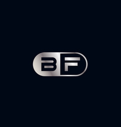 Initial letter bf logo template design vector