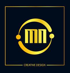 Initial letter mn logo template design vector
