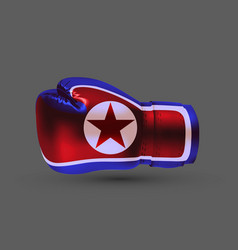 isolated boxing glove north democratic peoples vector image