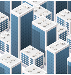 Isometric background seamless city downtown vector