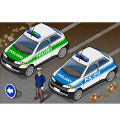 Isometric German Police Car vector image